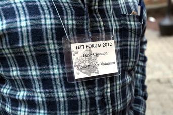 Left Forum 2012 nametag