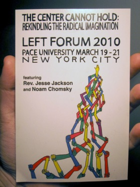 Left Forum 2010 postcard