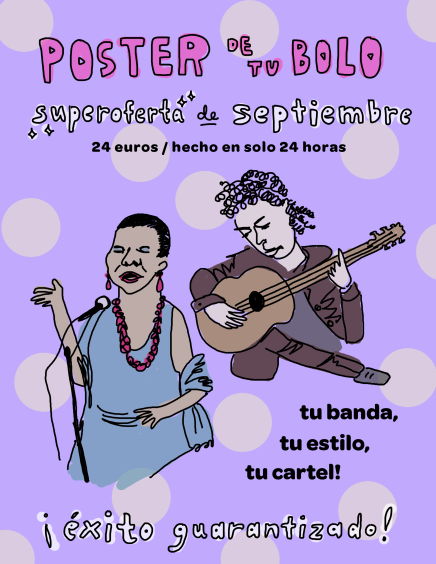 Gig Posters Poster in Spanish