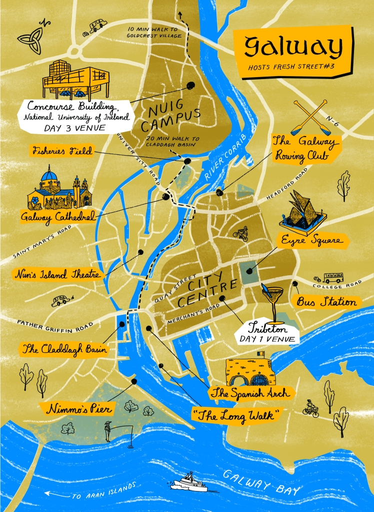 Illustrated map of Galway City